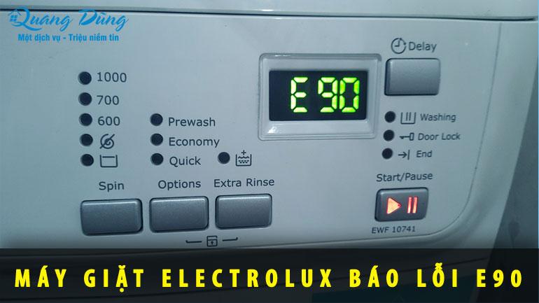 máy giặt báo lỗi E90