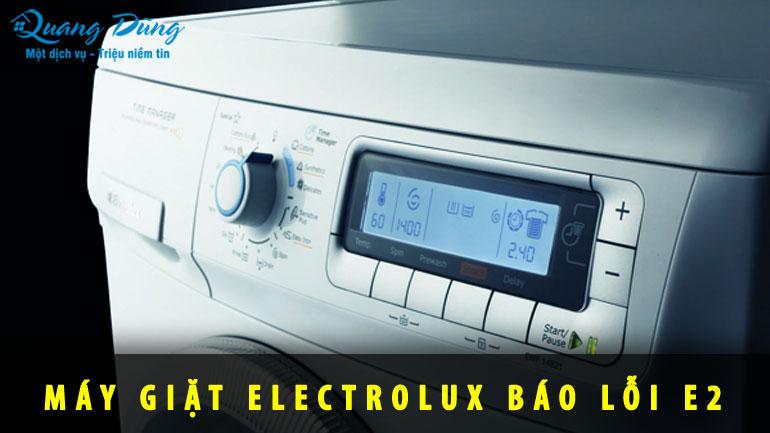 máy giặt electrolux báo lỗi E2