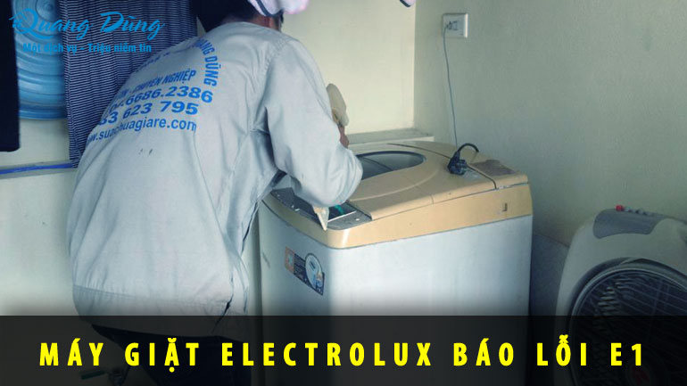 sửa máy giặt electrolux báo lỗi E1