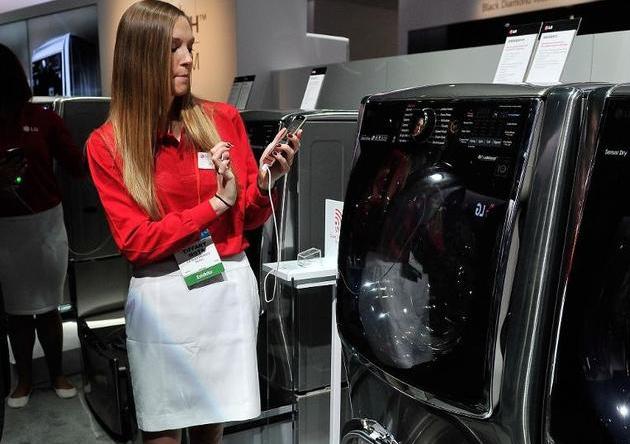máy giặt với tính năng điều khiển bằng điện thoại