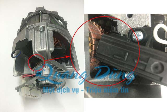 vị trí của chổi than máy giặt trong động cơ