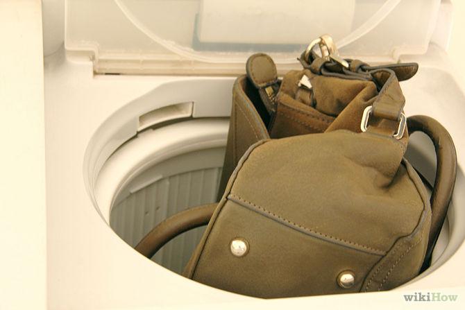 cách giặt túi da bằng máy giặt