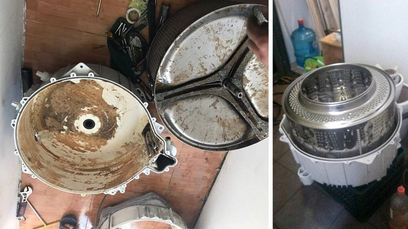 tác dụng của việc vệ sinh máy giặt