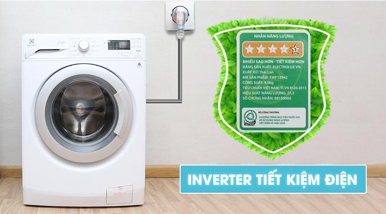 Máy Giặt Cửa Ngang Inverter Electrolux EWF12942 (9kg)
