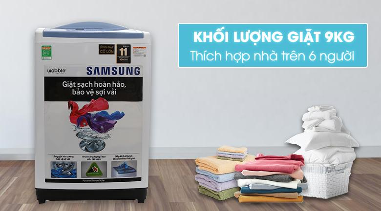 Kích thướcmáy giặt Samsung 9 kg WA90M5120SW/SV