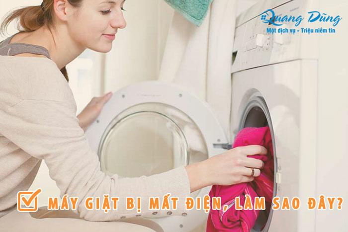 máy giặt bị mất điện